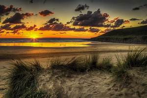 sky sand sunset sunrise beach nature landscape central ...