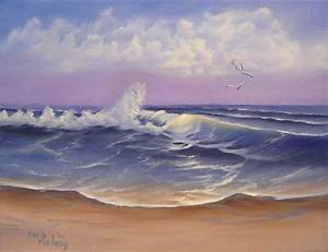 The Sea Seascape Oil Painting Painting by Barbara Furlong