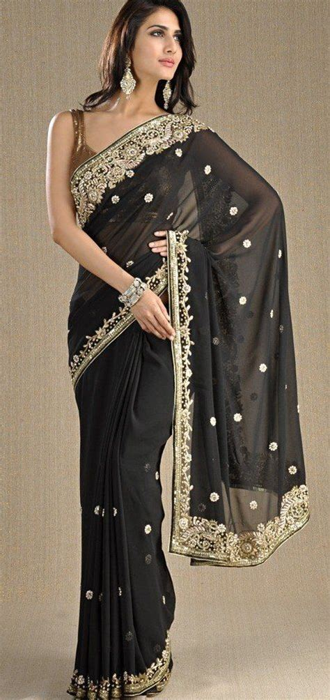 black and gold blouse black and gold saree india beautiful
