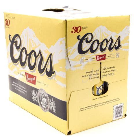 30 rack of coors light coors banquet 12oz can 30 pack beer wine and