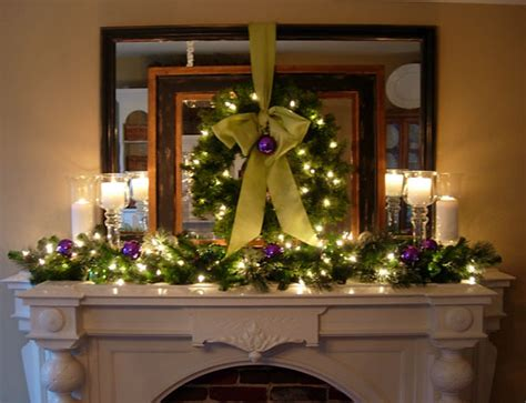 festive christmas mantel decorating idea in my own style