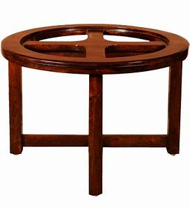 Round cherry color coffee table by mudra online coffee for Cherry color coffee table