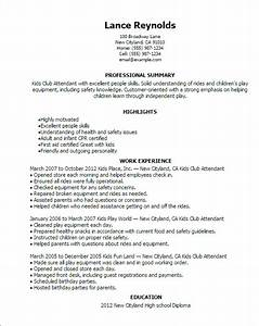 kids club attendant resume template best design tips With how to make a resume for kids
