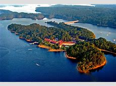 DeGray Lake Resort State Park Lodge aerial — Getaways