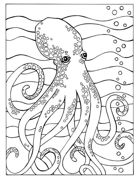 Kleurplaat Octopus by Octopus Fortuna Coloring Book Octopus Page Sea Designs