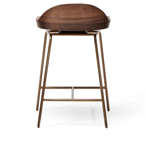 spindle bar stool low back bassamfellows suite ny