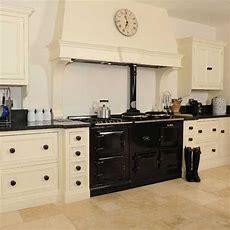 Cream Kitchen With Black Appliances  Hand Painted Cream