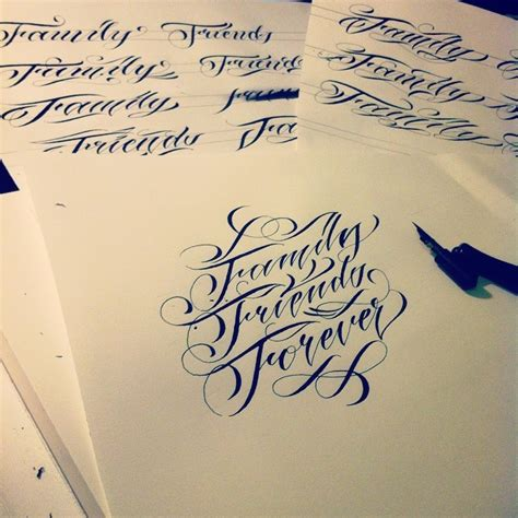 Wlk — Family Friends Forever #wlk #calligraphy #tattoo