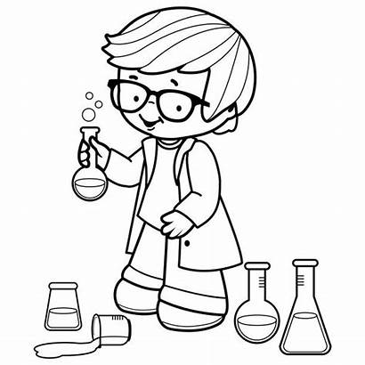 Science Coloring Experiments Pages Boy Project Making