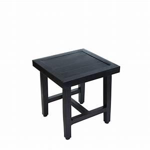 Hampton Bay Woodbury Patio Accent Table D9127 TS The