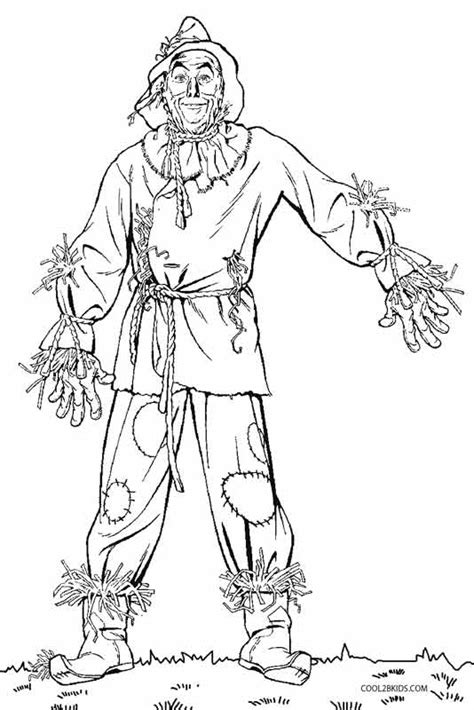 printable scarecrow coloring pages  kids