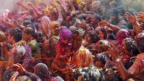 wallpaper holi festival  colours father son people