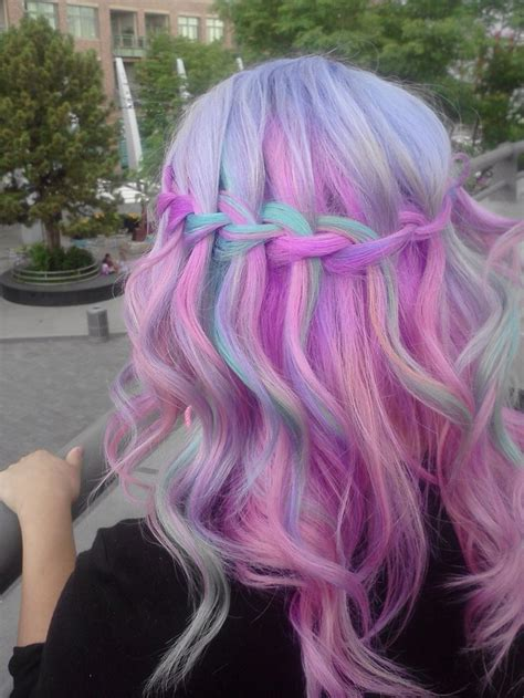 Best 25 Pastel Rainbow Hair Ideas On Pinterest