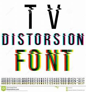 Distortion Font Stock Photo - Image: 56399791