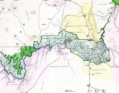 grand canyon arizona map