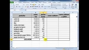 Microsoft Excel - Z U00e1kladn U00ed Tabulka