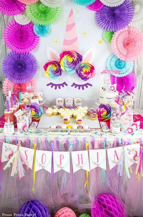 check   amazing unicorn birthday party love