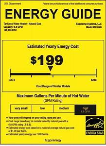 Energy Guide Tankless Water Heaters