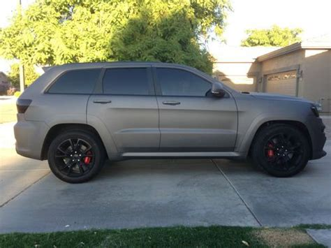 flat gray jeep buy used 2012 jeep grand cherokee srt 8 6 4l hemi flat gun