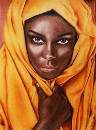 Beautiful African Woman Art