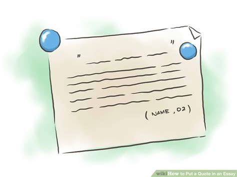 How To Put A Quote In An Essay (with Examples) Wikihow