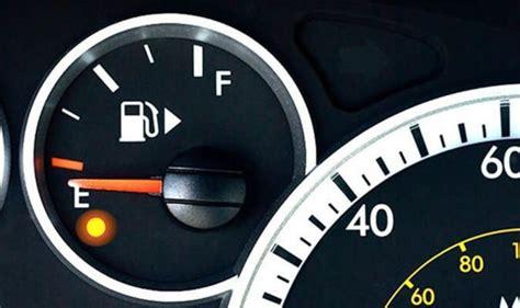 car travel   fuel warning light