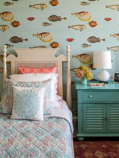 Bedroom Guest Fish Themed Fun Hgtv Eclectic