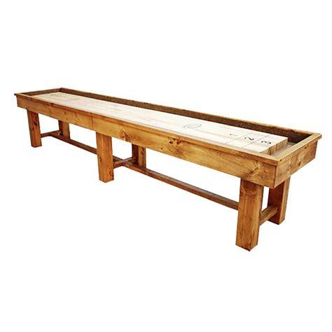 12 ft shuffleboard table 12 foot ponderosa pine shuffleboard table mcclure tables