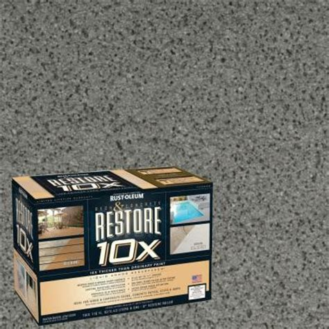 Deck Resurfacer Home Depot by Rust Oleum Restore 2 Gal Gray Deck And Concrete 10x