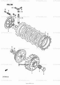 Suzuki Atv 1988 Oem Parts Diagram For Clutch  Model H  J  K  L  M  N