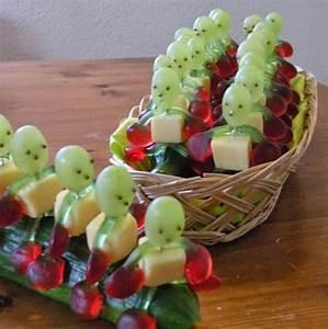 Rezepte Für Geburtstagsfeier : tolles rezept f r eine kinderparty ihr braucht daf r eine gurke weintrauben haribo kirschen ~ Frokenaadalensverden.com Haus und Dekorationen