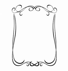 Simple black ornamental decorative frame vector 1151945 ...