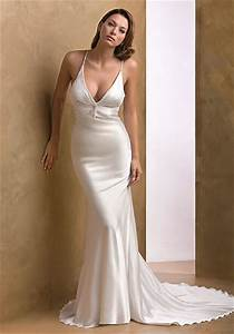 looking sophisticated and elegant with simple wedding With simple silk wedding dresses