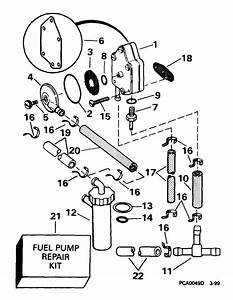 Johnson Fuel Pump Parts For 1999 25hp J25wrleen Outboard Motor