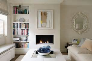 small sitting room with hidden storage small space
