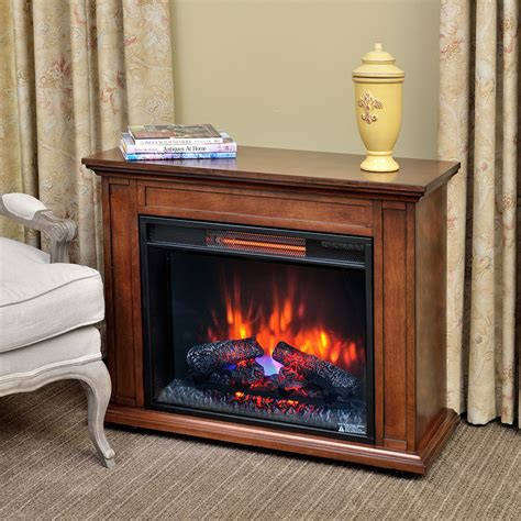 electric heater fireplace carlisle infrared electric fireplace heater in mahogany