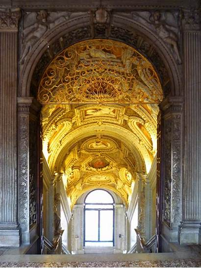 Palace Interior Doge Venice Doges Stairs Golden