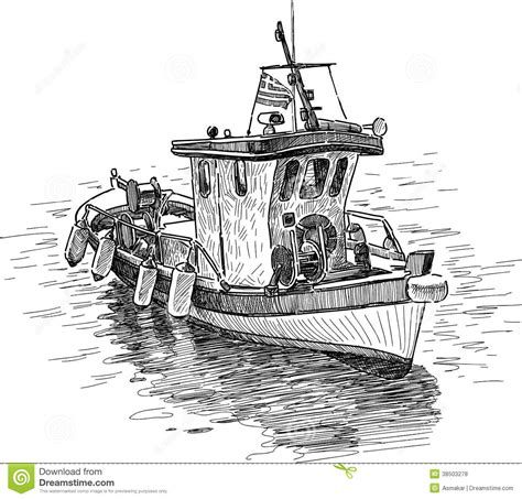 How To Draw A Traditional Boat by Fishing Boat Stock Photo Image Of Marine Boat