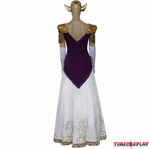 The legend of zelda princess zelda cosplay wedding dress for Cosplay wedding dress