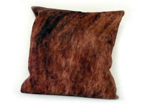 Brindle Cowhide Pillows - cowhide pillow cover cushion cow hide hair on cover 16 quot x