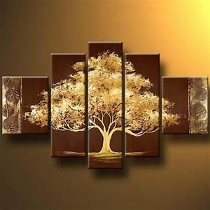 Tree modern canvas art wall decor landscape oil painting