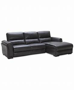 Jessi quilted side leather 3 piece chaise sofa with 2 for Jessi leather power sectional sofa living room furniture