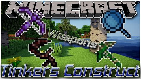 tinkers construct weapons minecraft  mod showcase