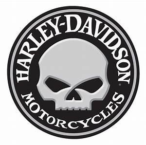 Harley-Davidson Embossed Willie G Skull Button Round Tin