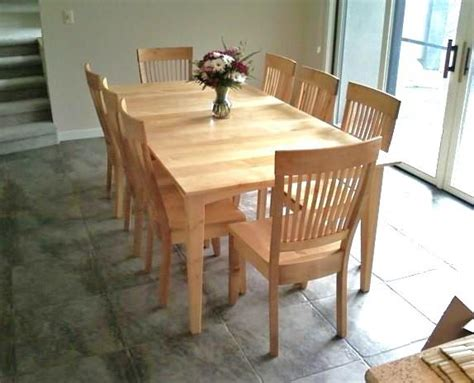 solid maple quot prairie quot table with leaf boulder furniture arts