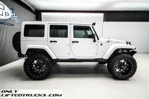 white jeep unlimited lifted used 2015 jeep wrangler unlimited sahara lifted