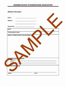 Hoa Letter Samples Forms And Templates