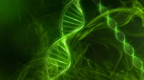 green dna code  genetic background  slow motion
