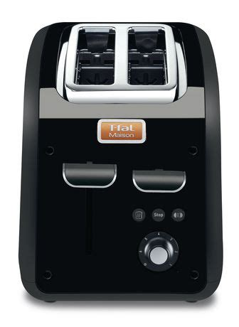 T Fal Toaster by T Fal Maison 2 Slice Toaster Black Walmart Canada