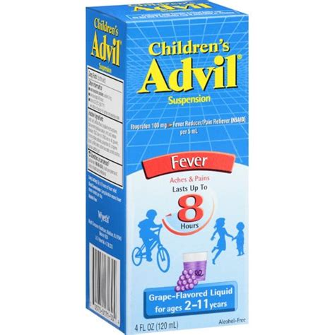 Childrens Advil Ibuprofen Fever Reducer/Pain Reliever Oral Suspension Grape